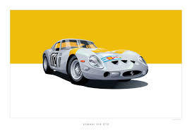 vintage ferrari art iconic racing car posters by arthur schening