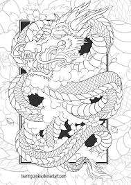 chinese dragon colouring tearingcookie deviantart