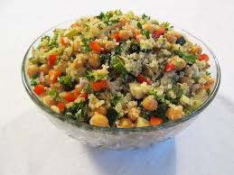 How To Make Roasted Vegetables by Chickpea Quinoa Salad With Roasted Vegetables Recipe Robins