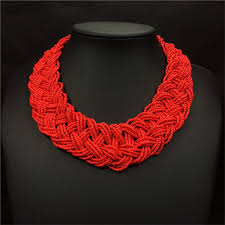 handmade fashion necklace images Online shop duftgold weave acrylic beads bohemian necklace wide jpg