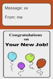 Congrats On New Job Card Good Luck New Job Card Android Apps On Google Play