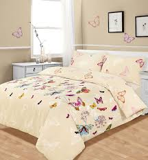 Single Bed Duvet Appealing Butterfly Duvet Cover Double 116 Pink Butterfly Double