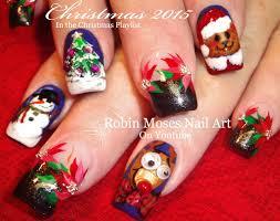 robin moses nail art christmas scene nail art ideas