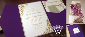 pocketfold invitations purple and chagne wedding invitation a vibrant wedding