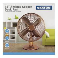 12 inch 3 speed oscillating fan status 12 inch desk fan copper at wilko com