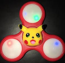 a light up fidget spinner pikachu pokémon custom led light up fidget spinner