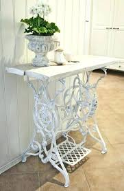 shabby chic table runner old sewing machine table ideas shabby chic table recycled old sewing