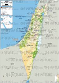 Map Of Syria And Israel geoatlas countries israel map city illustrator fully