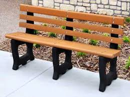 diy recycled plastic park bench plans youtube