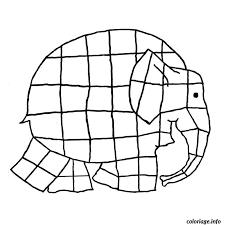 Coloriage Elephant Elmer dessin