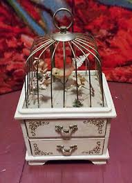 Unique Music Boxes Vintage Jewelry Box Music Bird Cage Creepy Unique U2022 29 00