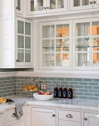 backsplash with white kitchen cabinets blue glass tile backsplash design ideas