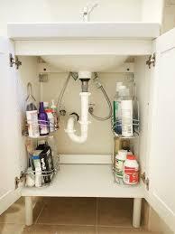 under the sink bathroom organizer storage under the sink organizer bodhum organizer