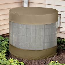 Exterior Central Air Conditioner Cover - vented air conditioner cover the green head