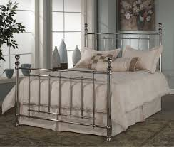 Iron Frame Beds by Bedroom Minimalist Silver Metal Panel Full Size Bed Frame In