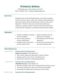 Customer Service Resume Sample Skills by Example Of A Customer Service Resume Combination Resume Sample