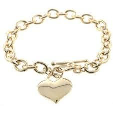 amazon designer inspired gold charm toggle bracelet only