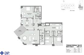 London Terrace Towers Floor Plans by Floor Plans 3 Bedroom Units