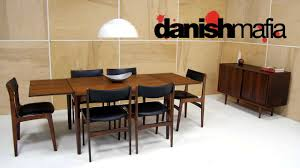 Mid Century Dining Table And Chairs Mid Century Danish Modern Rosewood Complete Dining Table U0026 Chair