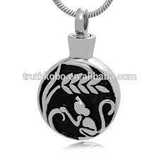 ashes pendant monkey stainless steel urn ashes pendant necklace wholesale