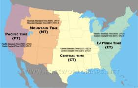 Daylight Savings Map Time Zone Map Of The United States Nations Online Project Usa
