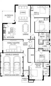 2 Floor Villa Plan Design Single Storey 4 Bedroom House Floorplan With Additional Rumpus
