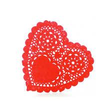 heart doilies coloured heart doilies wedding doilies