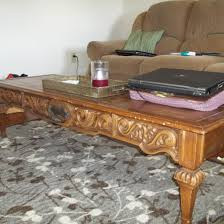 before u0026 after coffee table refinishing project thelittledabbler