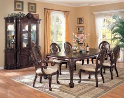 China Cabinet And Dining Room Set Coaster Furniture Cherry 7 Dining Set Table 4
