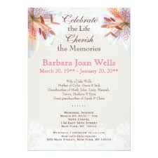 funeral invitation memorial service invitation zazzle