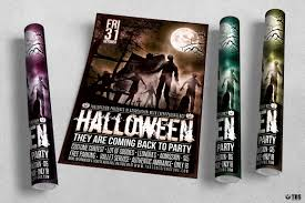 free halloween flyer background halloween flyer template v16 scary design psd templates