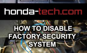 how to disable factory security system in honda accord youtube