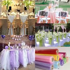 wholesale party supplies 115m organza chairs covers wedding decorations table sashes