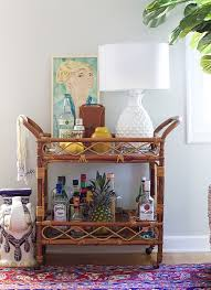 livingroom bar to style a bar cart in the living room