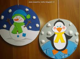 maestra nella addobbi invernali lavoretti per bambini