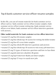 Sample Resume Of Customer Service by Top 8 Bank Customer Service Officer Resume Samples 1 638 Jpg Cb U003d1434619362