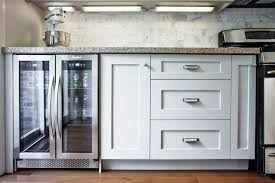 Cabinet For Mini Refrigerator Glass Front Mini Fridge Transitional Kitchen Liz Caan Interiors