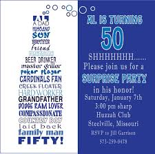 design classic free 50th birthday invitation templates for him