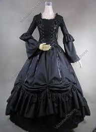 Steampunk Halloween Costume Renaissance Medieval Black Pirate Witch Dress Steampunk Halloween