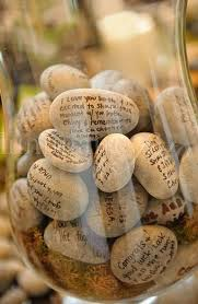 guest sign in book for funeral memory stones for the memorial table at a funeral in loving