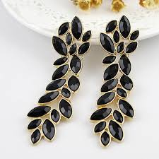 earrings online india buy india emporium rhea fashion earrings 39008 black with