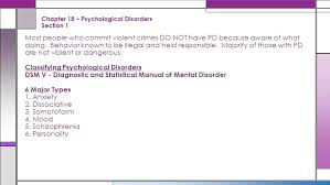 chapter 18 u2013 psychological disorders section 1 ppt video online