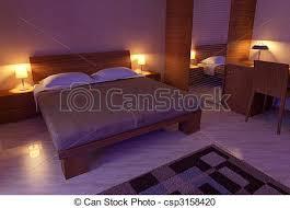 chambre lumiere lumière chambre à coucher doux 3d bois lumière illustration