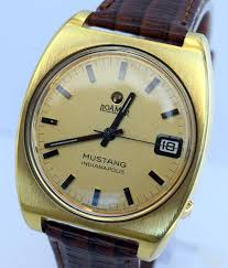 mustang of indianapolis roamer mustang indianapolis gentleman s automatic wristwatch c1970