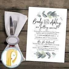 Engagement Party Invitation Cards Eucalyptus Engagement Party Invitation Bohemian Invite Boho