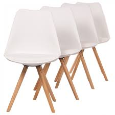 Dining Chair Set Of 4 Makika Design Retro Dining Chair Set Of 4 Mool In White Home