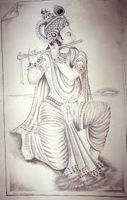 pictures hd lord krishna pencil art pic drawing art gallery