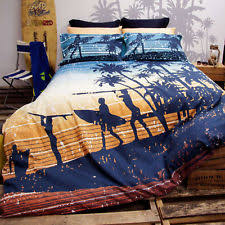 Teal Single Duvet Cover Queen Bed Retro Home 180tc Sunset Surfing Surf Quilt Doona Cover