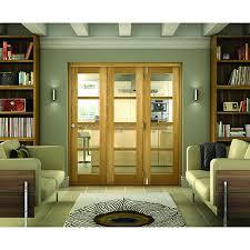 Wickes Sliding Patio Doors Wickes Belgrave Internal Folding 3 Door Set Oak Veneer 4 Lite 2074