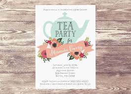 tea party bridal shower invitations printed baby shower tea party invitation custom personalized